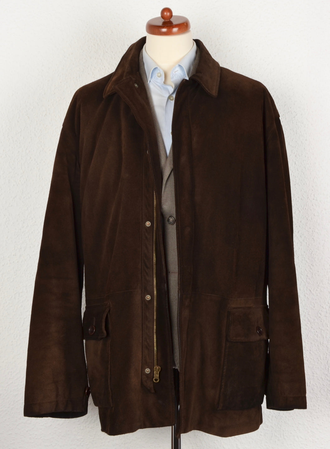 Polo Ralph Lauren Suede Coat Size XL - Chocolate Brown