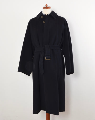 Vintage Allegri Wool/Cashmere Wrap Overcoat Size UK 46 - Midnight Blue