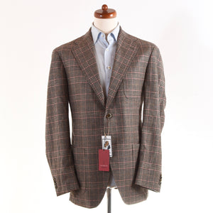 NEW Luigi Bianchi Mantova Wool/Cashmere Jacket Size 52 - Plaid