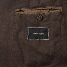 Load image into Gallery viewer, Paoloni Linen Blend Jacket Size 54 - Braun