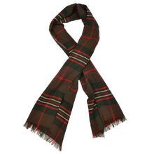 Load image into Gallery viewer, Blackcock Cashmere Wool Scarf - Brown Plaid