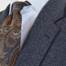 Load image into Gallery viewer, Country Life Silk Tweed Jacket Size 54 - Blue Herringbone