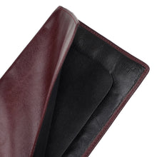 Load image into Gallery viewer, F. Schulz Wien Leather Passport Case/Wallet - Burgundy