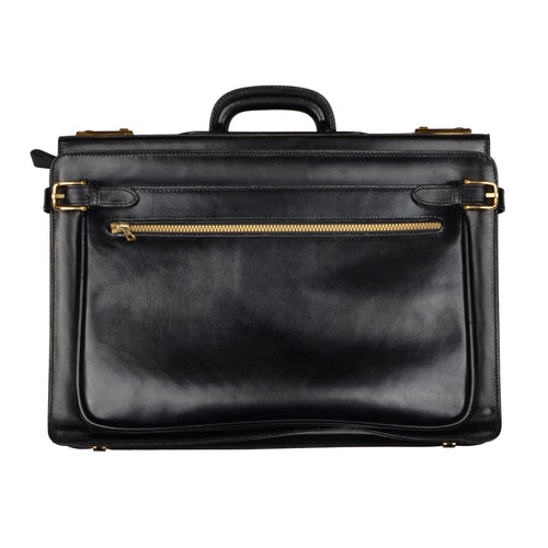 Mädler Executive Leather Briefcase - Black