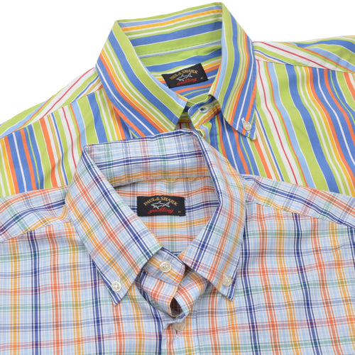 x2 Paul & Shark Yachting Short-Sleeved Shirts Size 41