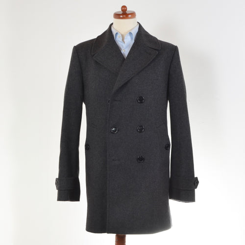 Burberry London Wool Pea Coat Size 52 - Grey