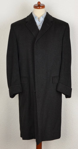 Wool & Cashmere Overcoat by Burberrys Size UK 44 - Charcoal