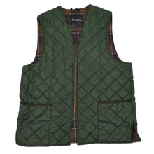 Load image into Gallery viewer, Barbour A855 Quilted Waistcoat/Zip in Liner Vest Size 46 - Green