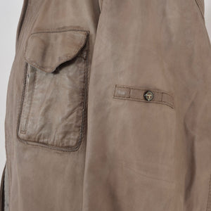 Trapper Lamb Nappa Size 60 Leather Jacket - Taupe