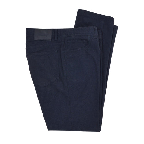 Brioni Brushed Cotton 5 Pocket Pants Size 36 - Blue