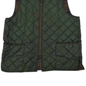 Barbour A855 Quilted Waistcoat/Zip in Liner Vest Size 46 - Green