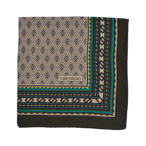 Valentino Silk Pocket Square - Aztec Inspired