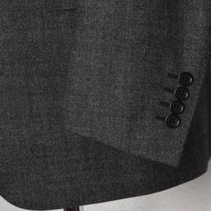 Canali 1934 Flecked Wool Suit Size 52 - Black/White/Grey