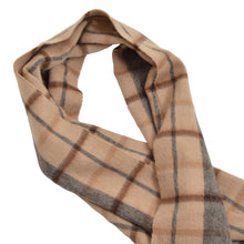 Load image into Gallery viewer, Medici Camel Hair Scarf - Plaid