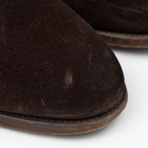 der Budapester x Alfred Sargent Suede Shoes Size 8 - Chocolate
