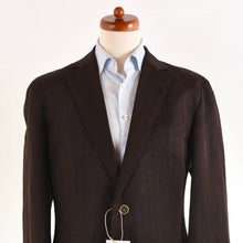 Load image into Gallery viewer, Zegna Linen/Silk Light Jacket Size 54 - Chocolate Brown