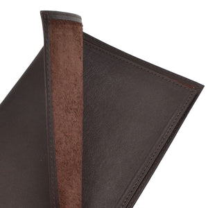 Wild Bison Leather Passport Case/Wallet - Dark Brown