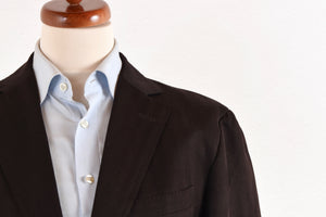 Zegna Linen/Silk Light Jacket Size 54 - Chocolate Brown