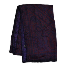 Load image into Gallery viewer, Classic Paisley Silk Dress Scarf- Purple Paisley