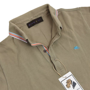 Etro Milano Slim Polo Shirt Size M - Green