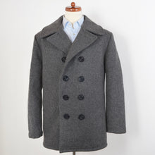 Load image into Gallery viewer, Schott USN 740N Pea Coat Size 40 - Oxford Grey
