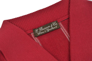 Knit Polo Shirt by Zimmerli for E. Braun & Co. - Burgundy, XL