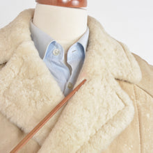 Load image into Gallery viewer, Full Length Double-Breasted Shearling Coat Size - Cream