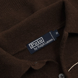 Polo Ralph Lauren Lambswool Polo Sweater Size M - Chocolate Brown