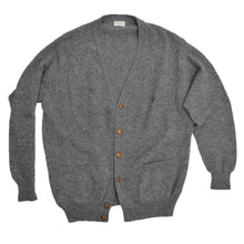 Load image into Gallery viewer, Benetton Shetland Cardigan Sweater - Grey