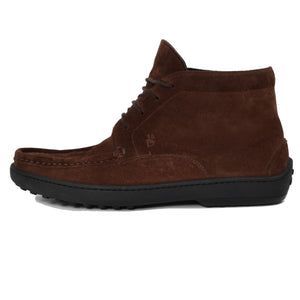 D. Lepori Snuff Suede Boots Size 42 - Tobacco