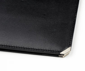 Valextra Milano Breast Wallet with Notepad - Black