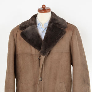Shearling Coat Size 56 - Brown-Taupe