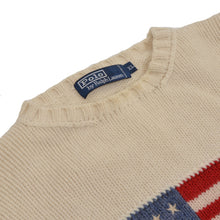 Load image into Gallery viewer, Polo Ralph Lauren Wool Flag Sweater Size XL  - Cream