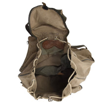 Load image into Gallery viewer, Vintage Kamarg Canvas Rucksack - Khaki/Olive Drab