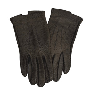Unlined Peccary Gloves  - Dark Grey