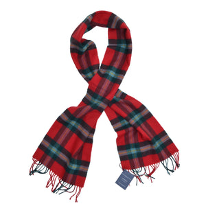 Johnstons of Elgin Tartan Scarf - Red