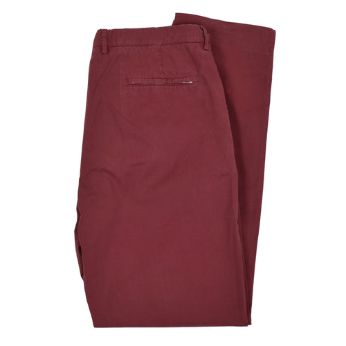 Brunello Cucinelli Cotton Pants Size 56 - Burgundy