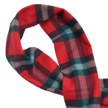 Load image into Gallery viewer, Johnstons of Elgin Tartan Scarf - Red