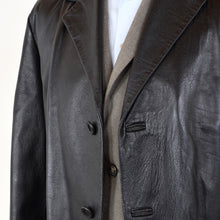 Load image into Gallery viewer, Brühl & Söhne Leather Trench Coat Size 48 - Black