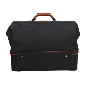 Nigst Wien Nylon & Leather Weekender Bag - Black