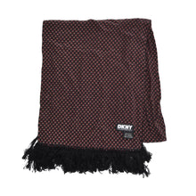 Load image into Gallery viewer, DKNY Silk Dress Scarf - Black/Burgundy