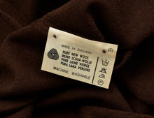 Load image into Gallery viewer, Knize Wien V-Neck Wool Sweater XL - Nut Brown