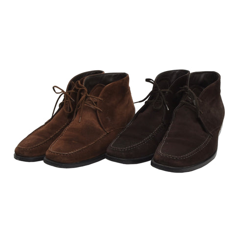 2x Pairs of Tod's Suede Boots Size 9 - Brown
