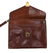 Load image into Gallery viewer, Rustic Leather Document Holder - Saddle Tan