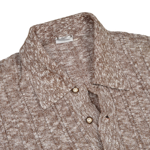 True Vintage 1960s Polo Shirt Wool Blend - Brown