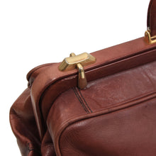 Load image into Gallery viewer, Vintage Leather Doctor's Bag/Weekender - Burgundy