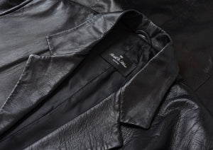 Brühl & Söhne Leather Trench Coat Size 48 - Black