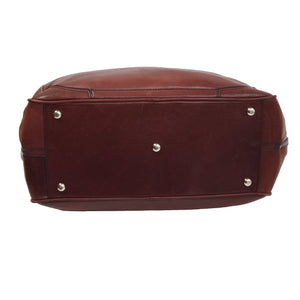 Vintage Leather Doctor's Bag/Weekender - Burgundy