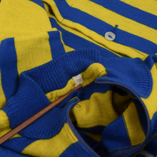 Load image into Gallery viewer, Vintage Wool Blend Pinarello Cycling Jersey - Blue & Yellow