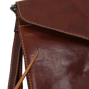 Rustic Leather Document Holder - Saddle Tan